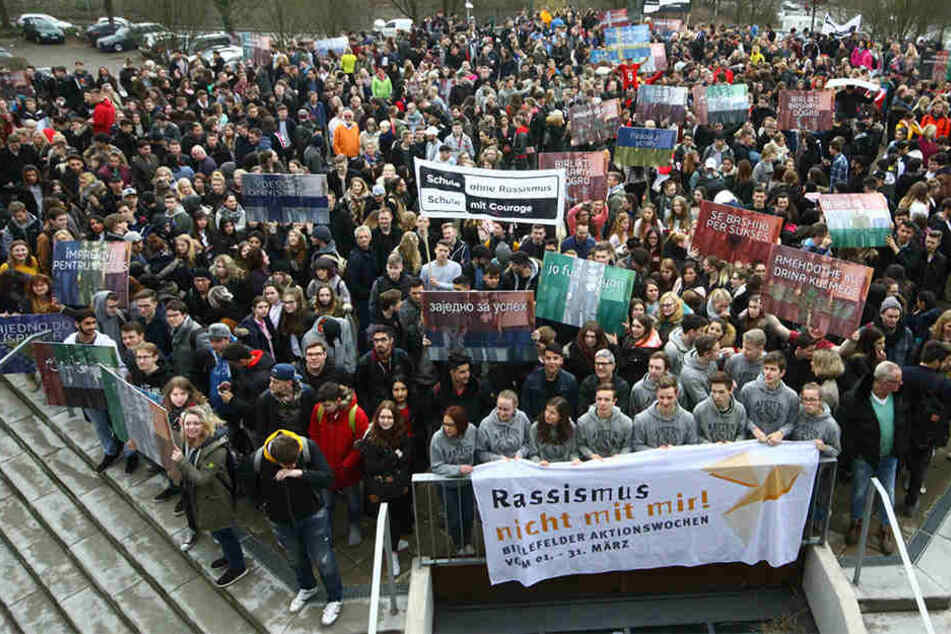 Die Leipziger sind zahlreich eingeladen, ein Zeichen gegen Rassismus zu setzen. (Symbolbild)