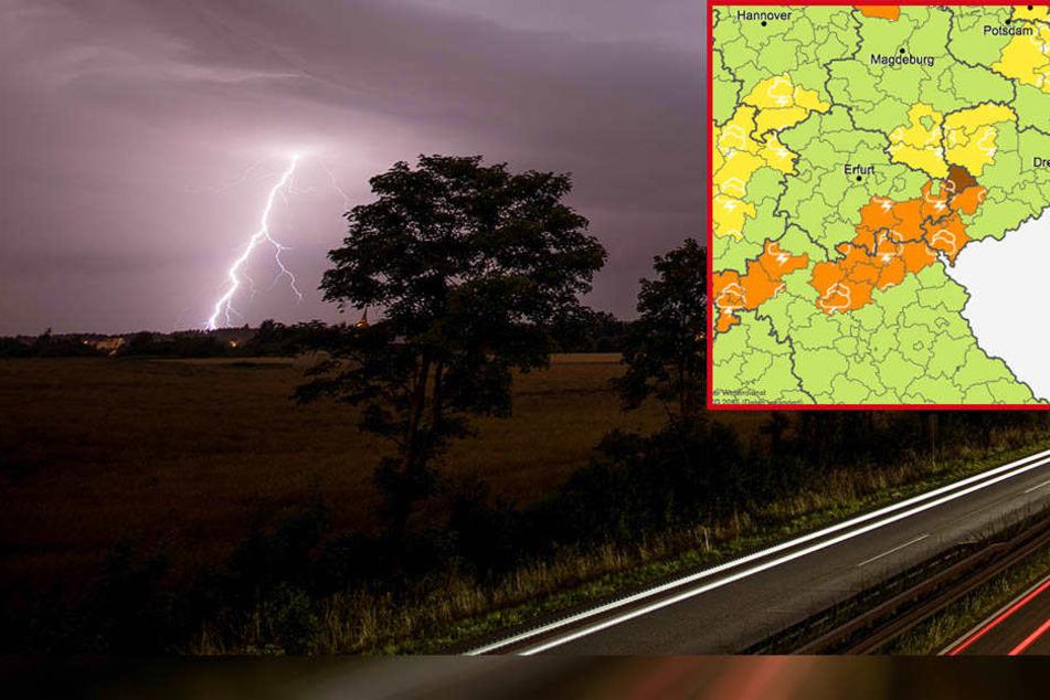 Unwetterwarnung: In diesen Landkreisen bleibt Ihr lieber zu Hause!