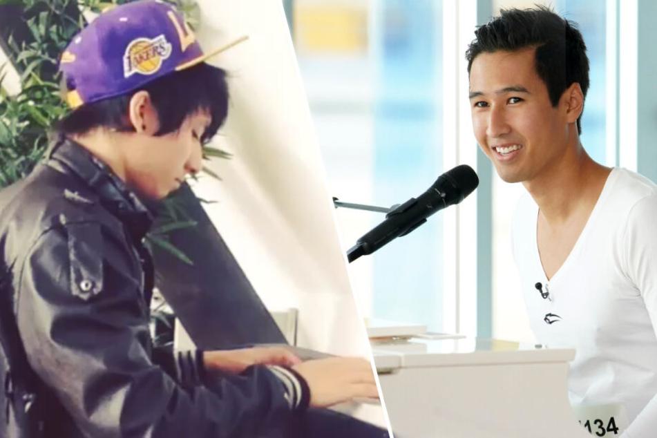 Links Julien, rechts Daniel: Klavierspielen können sie zumindest beide.
