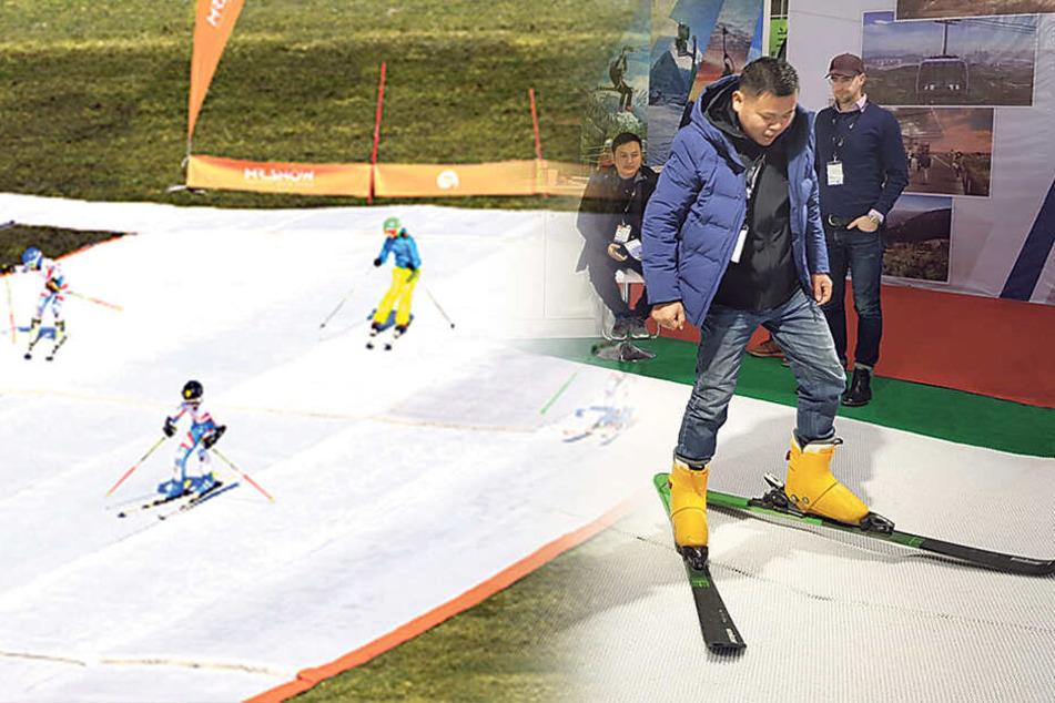 Chemnitz: Chemnitz glänzt mit Textil-Schnee in Peking