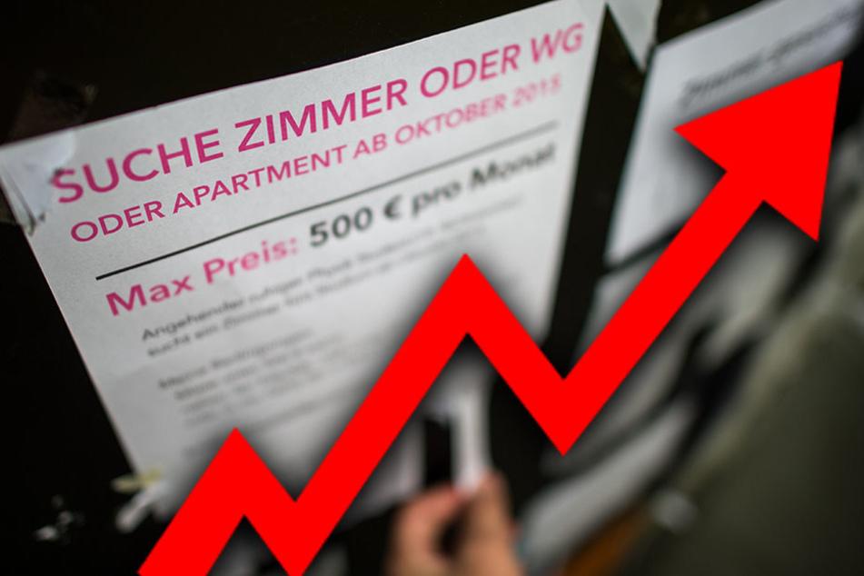 Auch in den kommenden Jahren rechnen Experten mit Mietpreiserhöhungen für Studentenwohnungen.