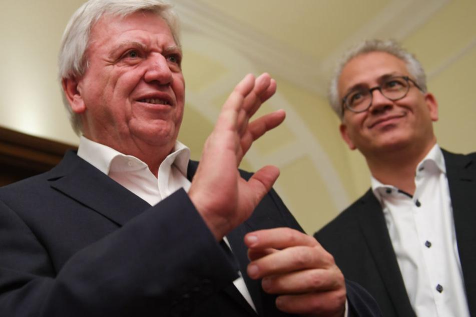 Volker Bouffier (links) und Tarek Al-Wazir könnten wieder gemeinsame Sache machen.