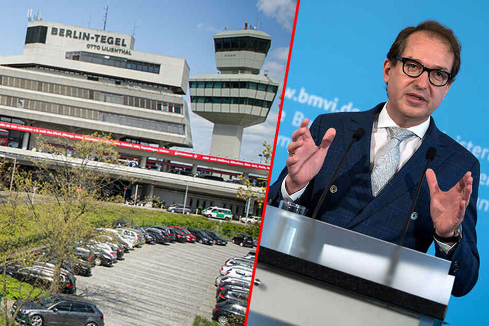 Alexander Dobrindt und die Chefs der Finanzressorts, die für den Flughafen Tegel zuständig sind, werden sich mit Sicherheit eine hitzige Debatte liefern. (Bildmontage)