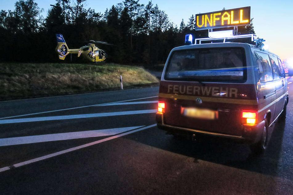 Frau bei Unfall in Lugau schwer verletzt