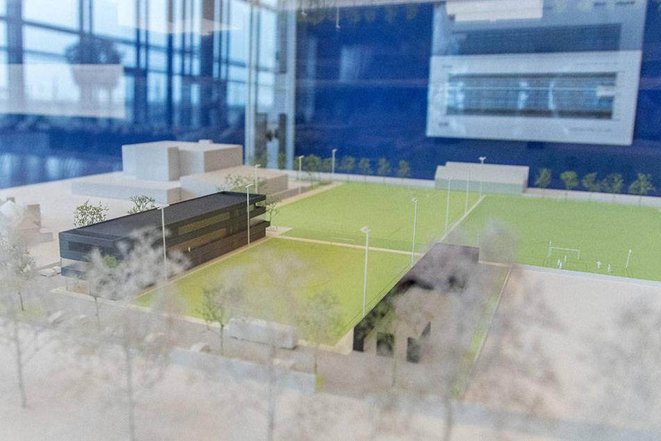 So soll es aussehen, das nagelneue Trainingszentrum der Schwarz-Gelben.  Dieses Modell wurde im Congress Center präsentiert.