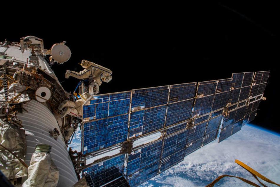Die Raumstation ISS im Weltall.