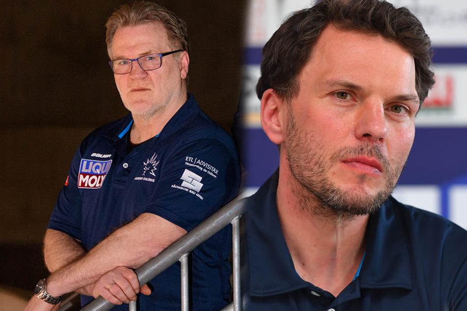 Franz Steer (links) verlässt die Eislöwen. Dafür übernimmt Jochen Molling (rechts) das Traineramt.