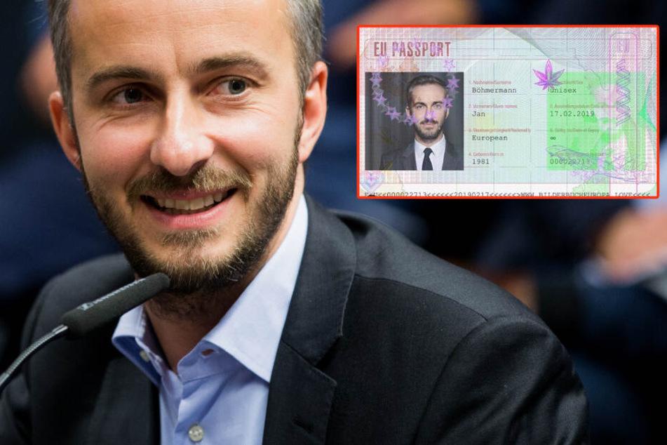 Jan Böhmermann zeigt jetzt neuen EU-Reisepass