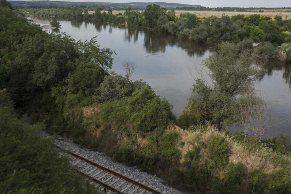 Blick auf den Fluss Evros, der die natürliche Grenze zur Türkei bildet.