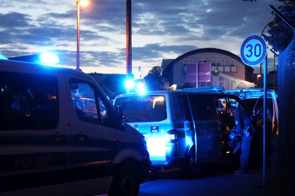 Zahlreiche Polizisten waren an dem Großeinsatz in Aschaffenburg beteiligt.
