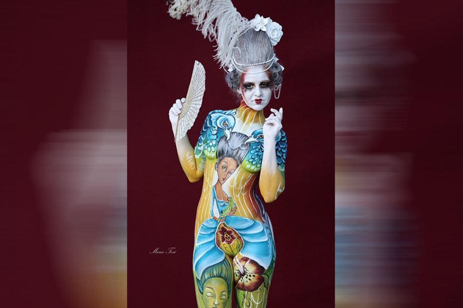 Silke Kirchhoff schminkte einst nur Kinder, jetzt ist sie in die Weltspitze der Bodypainter aufgestiegen und für ihre ausgefallenen Motive bekannt.