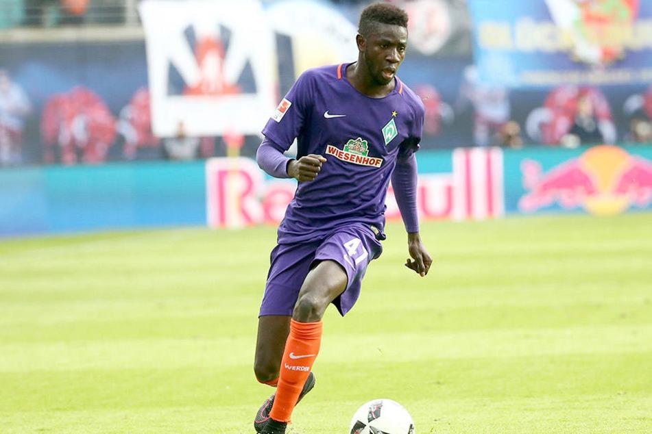 Lila steht ihm gut! Ousman Manneh im Trikot von Werder Bremen.