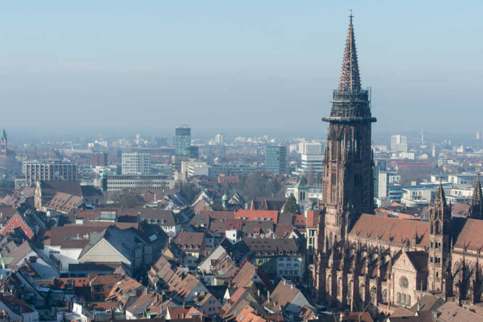 Sicht auf die Stadt Freiburg.