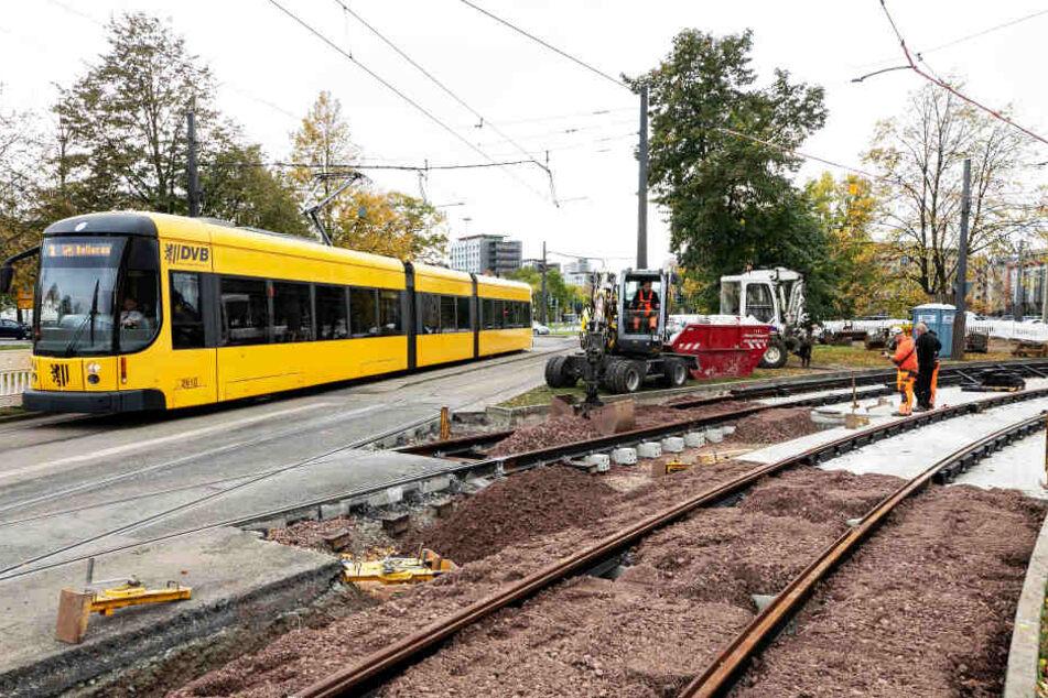 Dresden: Mega Baustelle rund um den Georgplatz, die Bahnen fahren wieder anders!