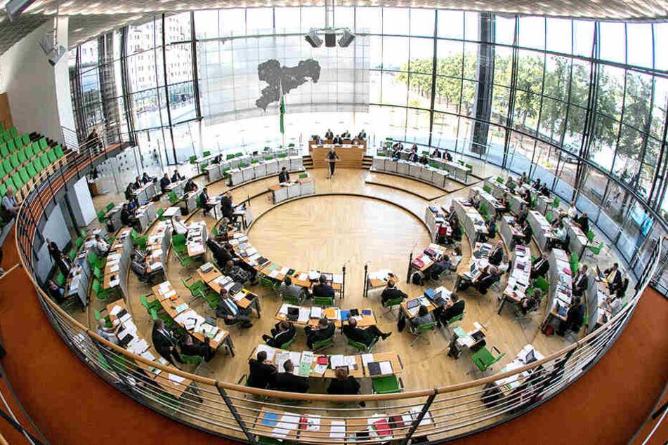 Plenarsaal des Landtags: Im Herbst werden die Karten bei der Landtagswahl neu gemischt.