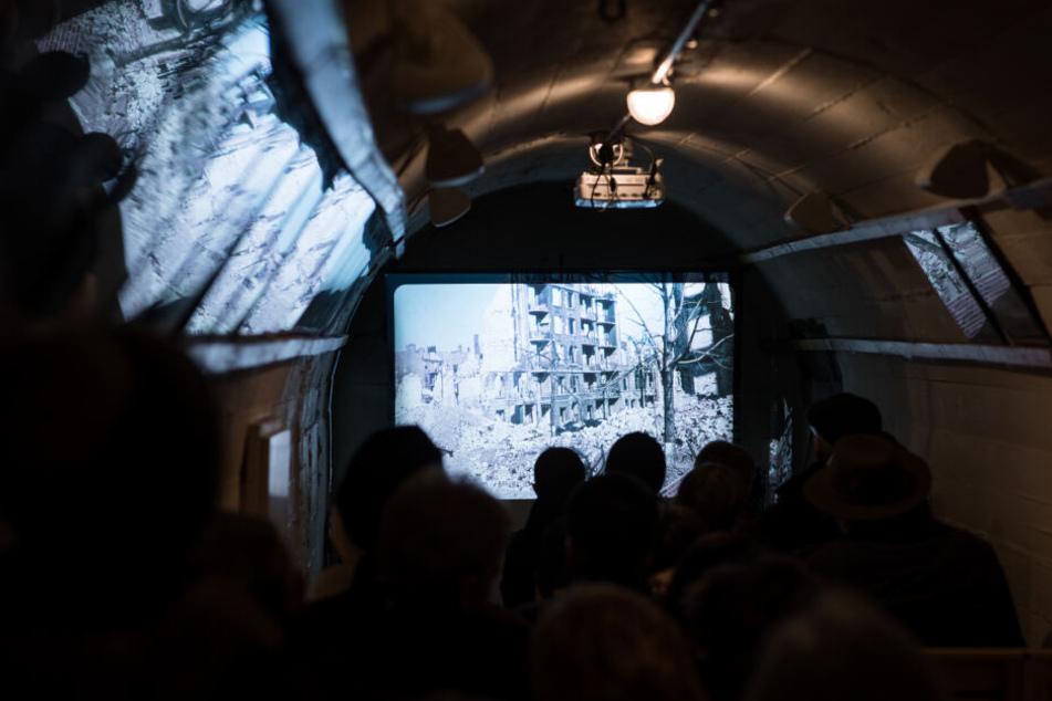 Hier Besuchen Gäste das Bunkermuseum in Hamburg-Hamm.