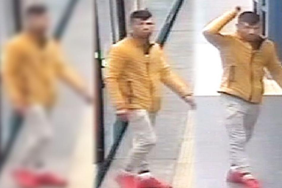 Die Polizei in Frankfurt veröffentlichte diese Fahndungsfotos des Gesuchten.