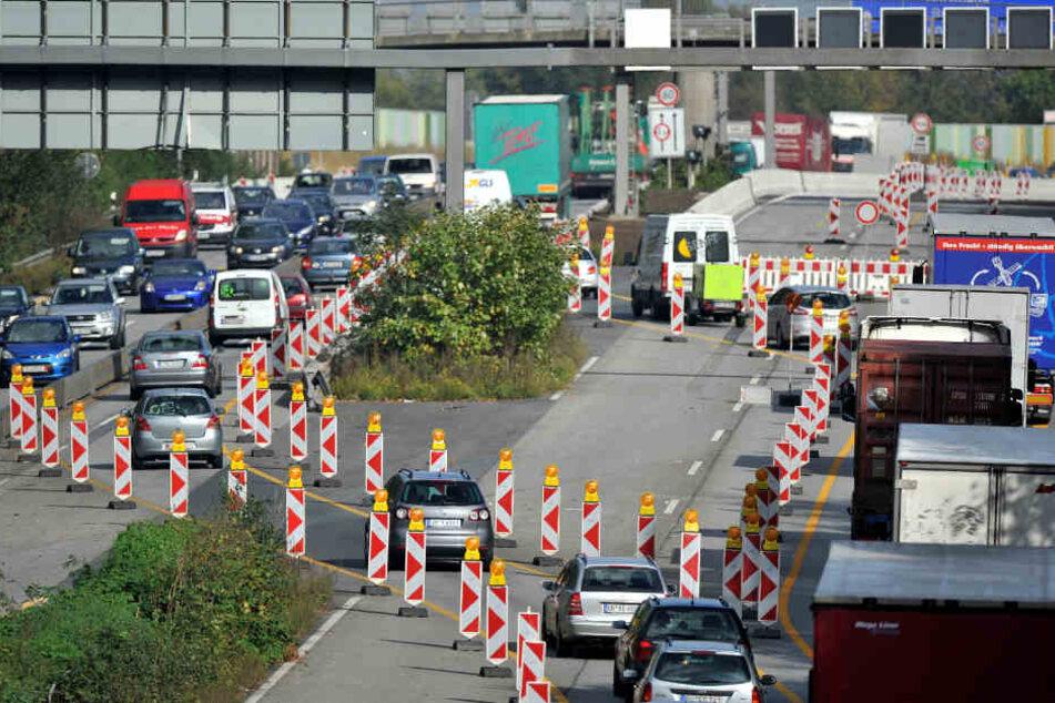 Während der Vollsperrung werden noch die Auf- und Abfahrt zur Autobahn saniert.