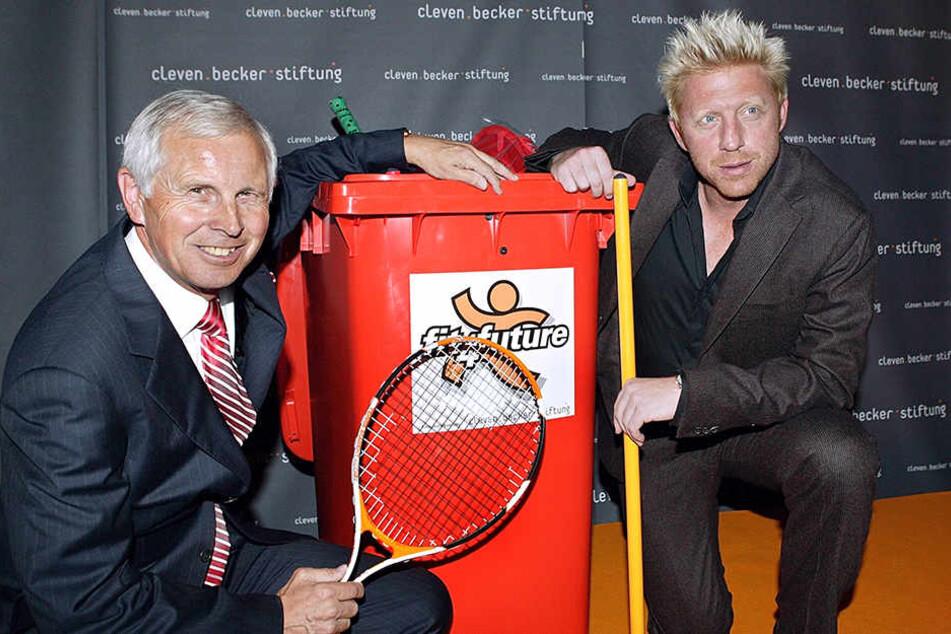 """Da war die Welt noch in Ordnung. 2005 stellten Cleven und Becker ihre neue """"Cleven Becker Stiftung"""" vor."""