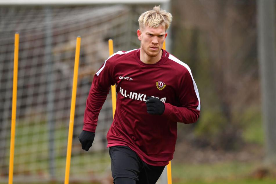 Simon Makienok trainierte am Donnerstag das erste Mal mit der Mannschaft.