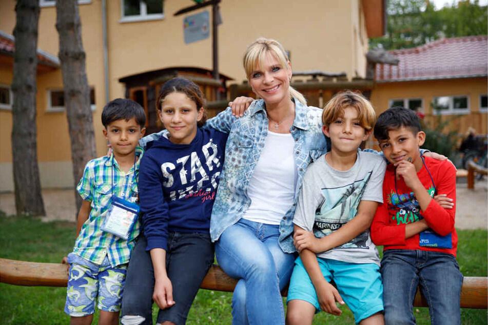 """Nimmt sich Zeit für die Kinder der Meißner """"Arche"""": MDR-Moderatorin Uta Bresan (51)."""