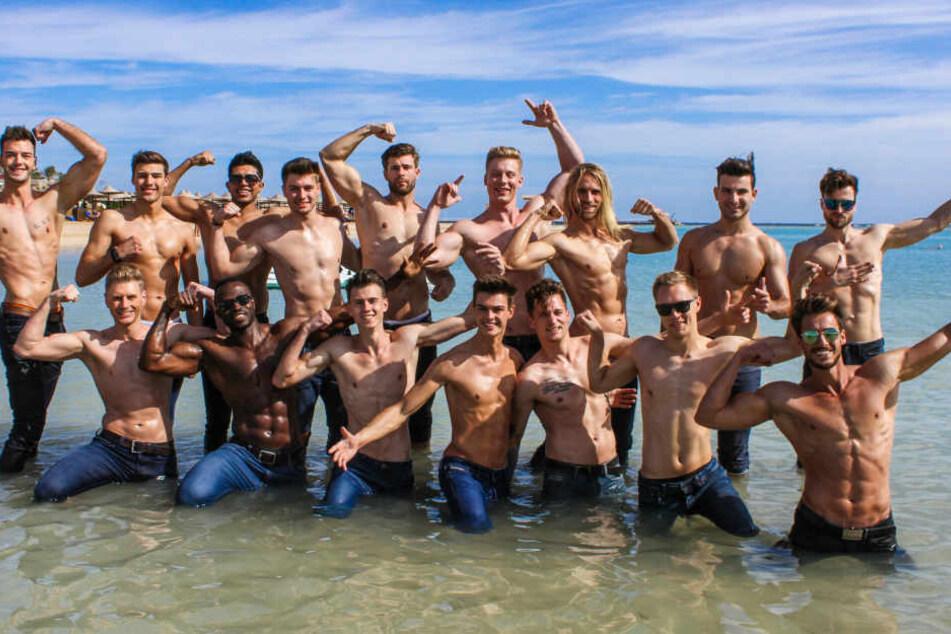 """Nacktschuss aus dem Roten Meer: Das sind alle 16 Teilnehmer der """"Mister Germany 2019""""-Wahl am Samstag."""