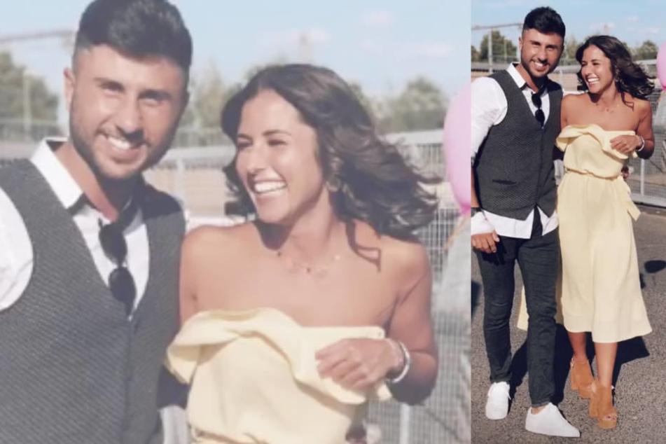 Roberto und Sarah haben offenbar viel Spaß auf der Hochzeitsfeier.