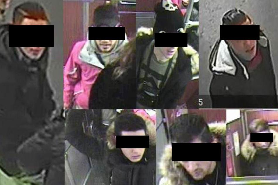 Mit diesen Bildern wurde seit Montag nach den sieben Jugendlichen gefahndet.
