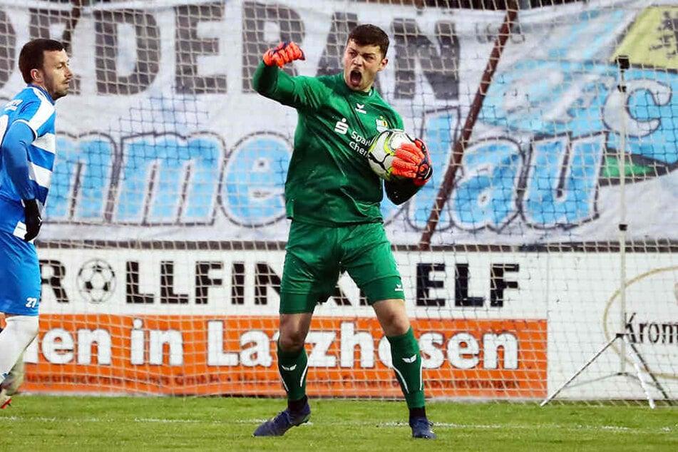 So jubeln konnte CFC-Keeper Joshua Mroß trotz seiner Paraden beim FC Viktoria 1889 Berlin nicht.