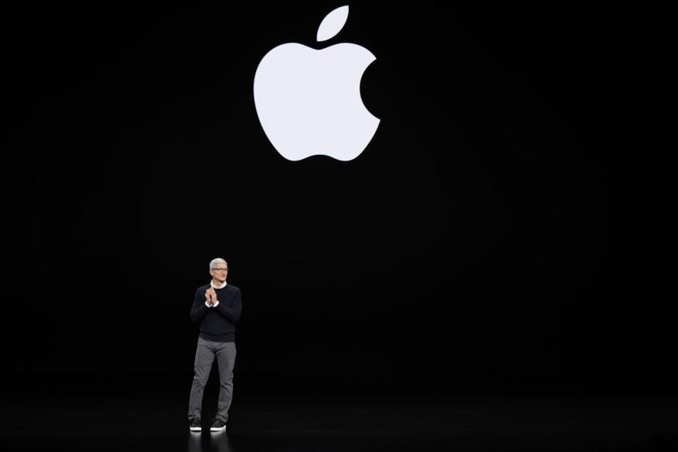 Tim Cook, Vorstandsvorsitzender von Apple, spricht bei der Vorstellung neuer Produkte.