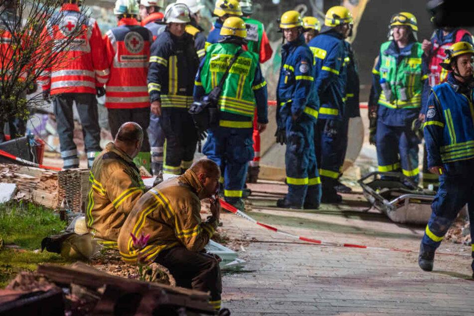 Bis zu 350 Rettungskräfte waren im Einsatz.