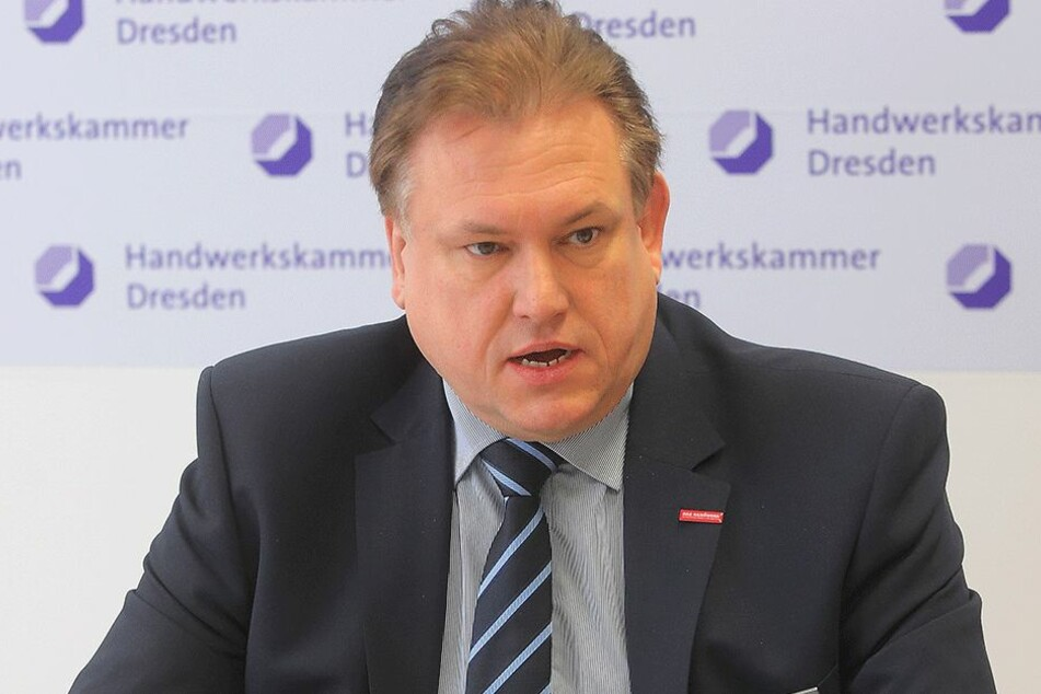 Andreas Brzezinski (48), Chef der Handwerkskammer für Ostsachsen und  Dresden.