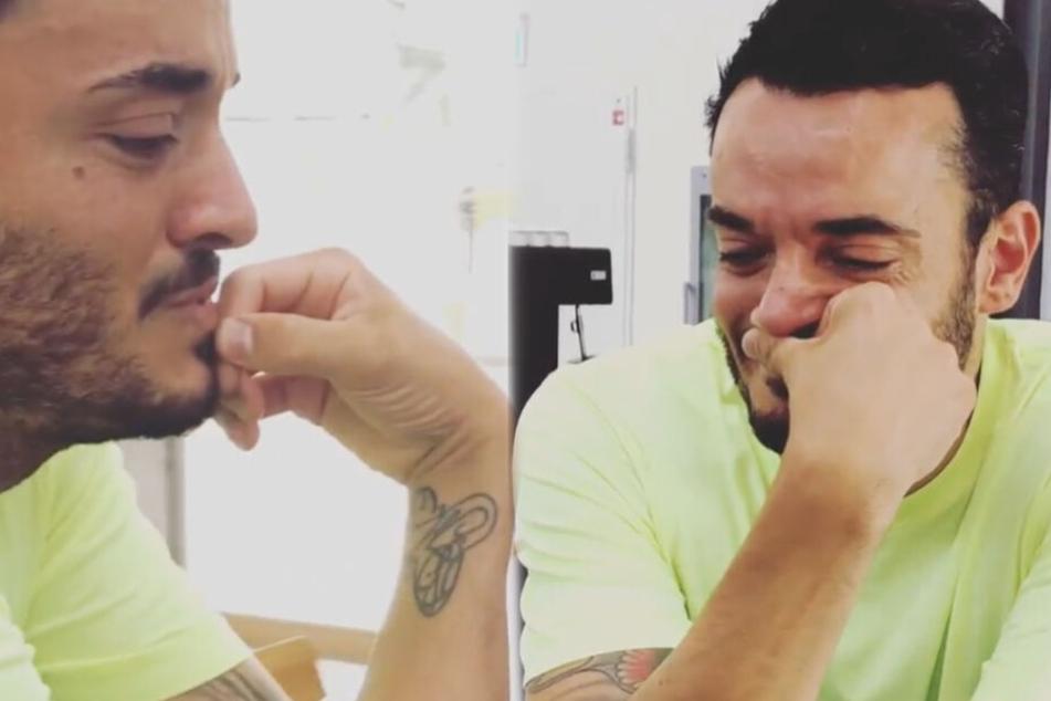 Giovanni Zarrella (41) kann sich seine Freudentränen nicht verkneifen.