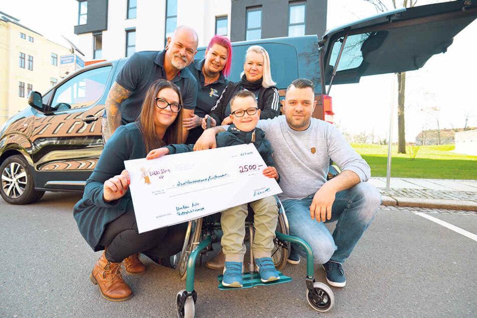 """Vom Verein """"Lukas' Stern"""" gab es schon mal 2500 Euro Starthilfe."""