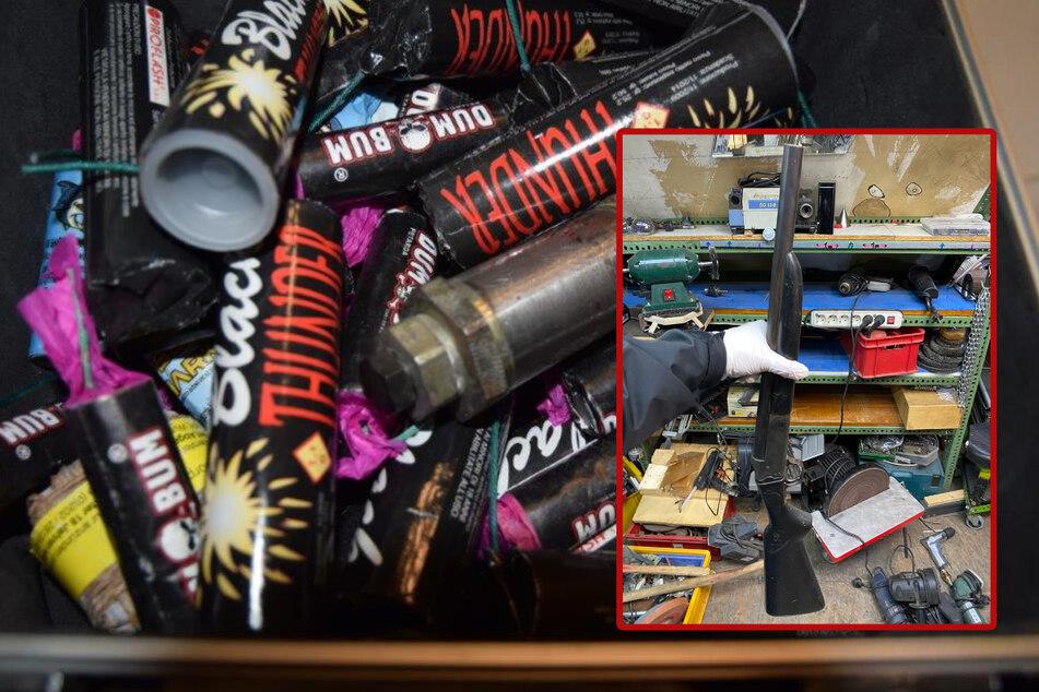 Mann hortet Rohrbombe und andere gefährliche Waffen in seiner Wohnung