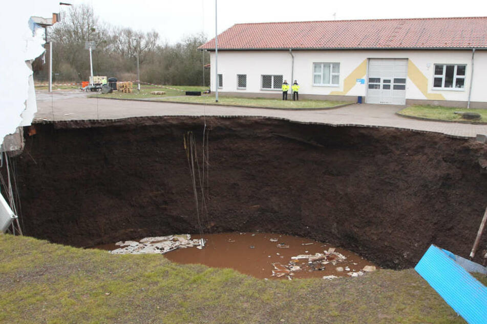 In Nordhausen in Thüringen ist im Februar 2016 die Erde eingebrochen.