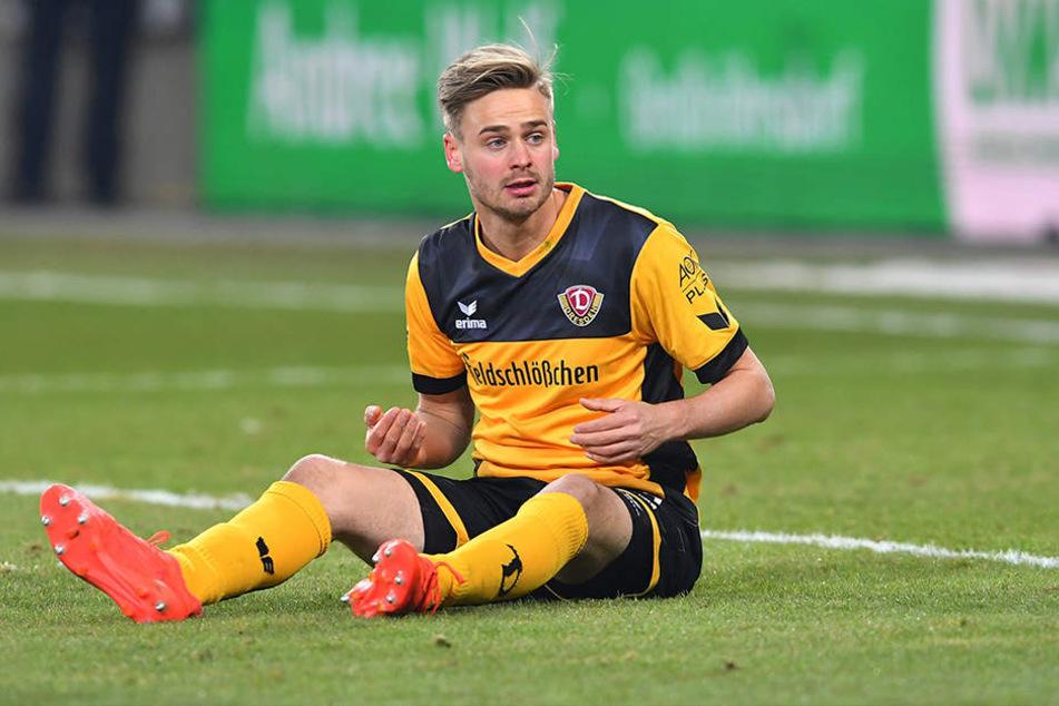 Lucas Röser hat sich auf den Hosenboden gesetzt. Dynamos bester Torschütze hat momentan seinen Stammplatz verloren.