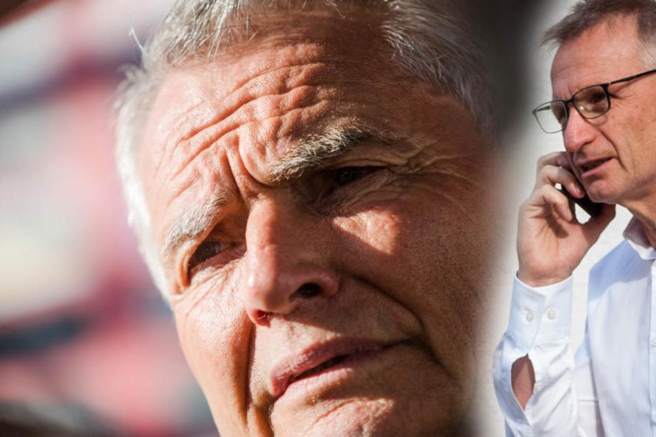 VfB-Präsident Wolfgang Dietrich (l.) stärkt seinem Sportvorstand Michael Reschke (r.) den Rücken. (Fotomontage)