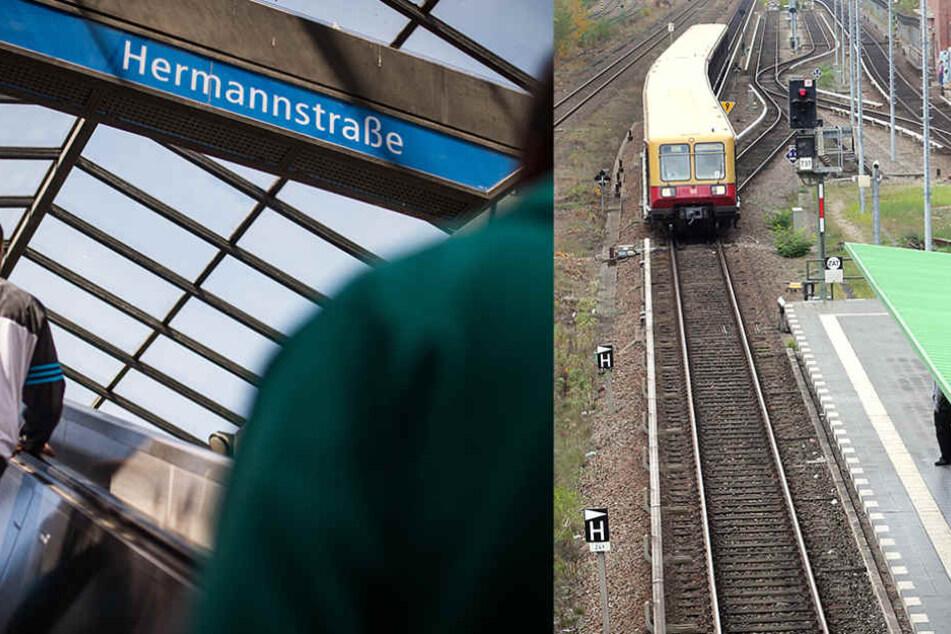 An der Hermannstraße hat ein Frau eine andere Frau vor eine einfahrende S-Bahn geschubst.
