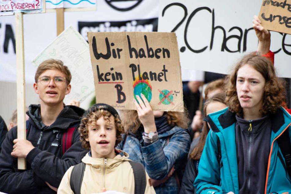 Schüler demonstrieren in Hamburg für mehr Klimaschutz. (Archivbild)