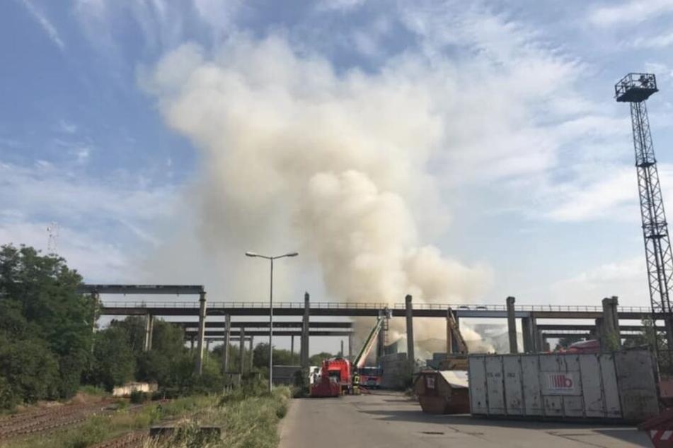 Leipzig: Dichter Rauch über Leipzig: Was ist hier los?