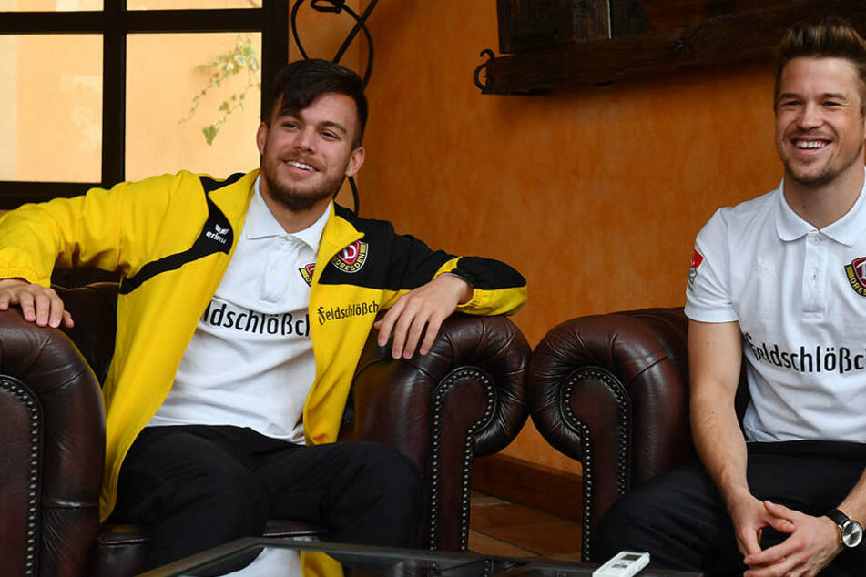 Zwei Österreicher in Dresden: Sascha Horvath (l.) und Patrick Möschl gehen in ihre zweite Saison bei Dynamo. Zielstellung: Möglichst oft zusammen auf dem Platz stehen.
