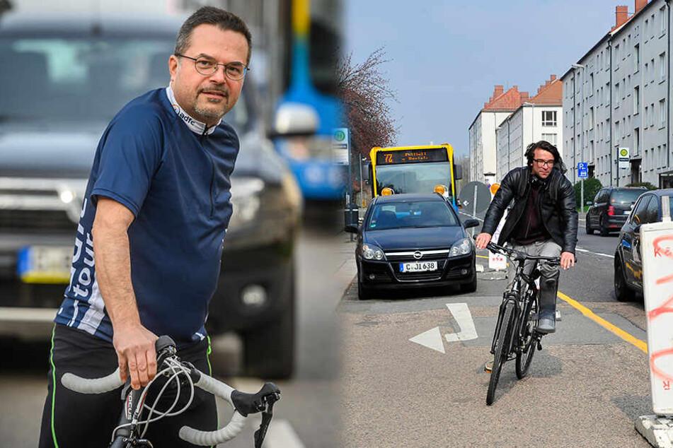 ADFC-Test zeigt: Radler fühlen sich auf Chemnitzer Straßen nicht sicher!