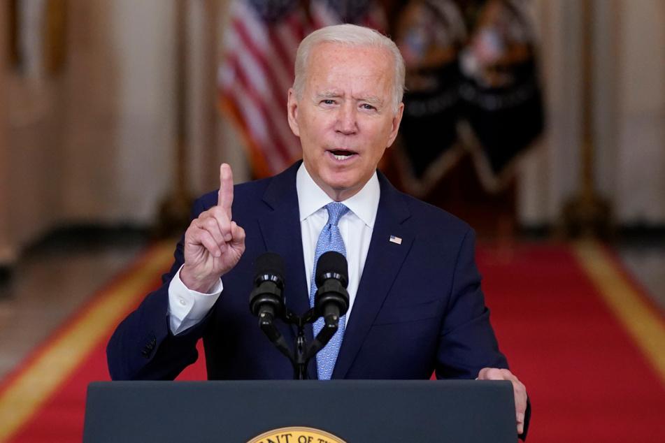 Joe Biden (78) sprach im State Dining Room des Weißen Hauses über Afghanistan.
