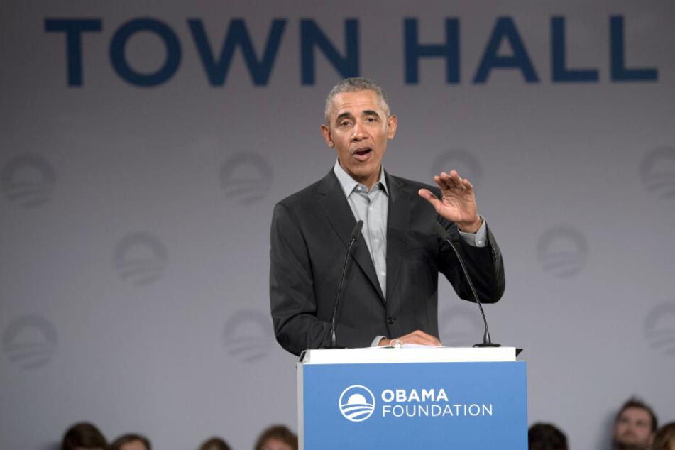 300 junge Menschen hörten sich die Rede von Barack Obama an.