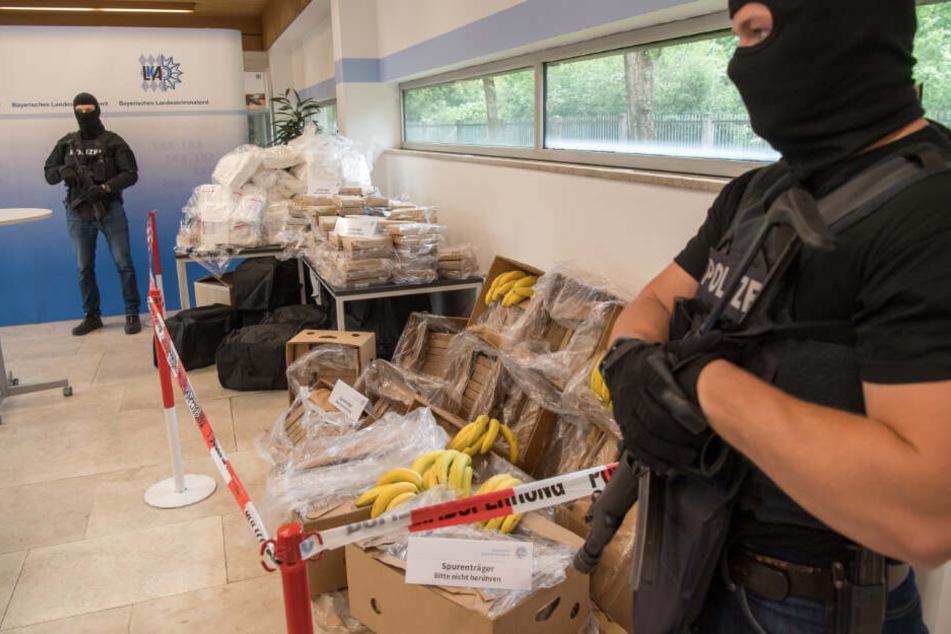 Im vergangenen Jahr konnte das LKA in Bayern ebenfalls mehr als eine Tonne Kokain sicher stellen.