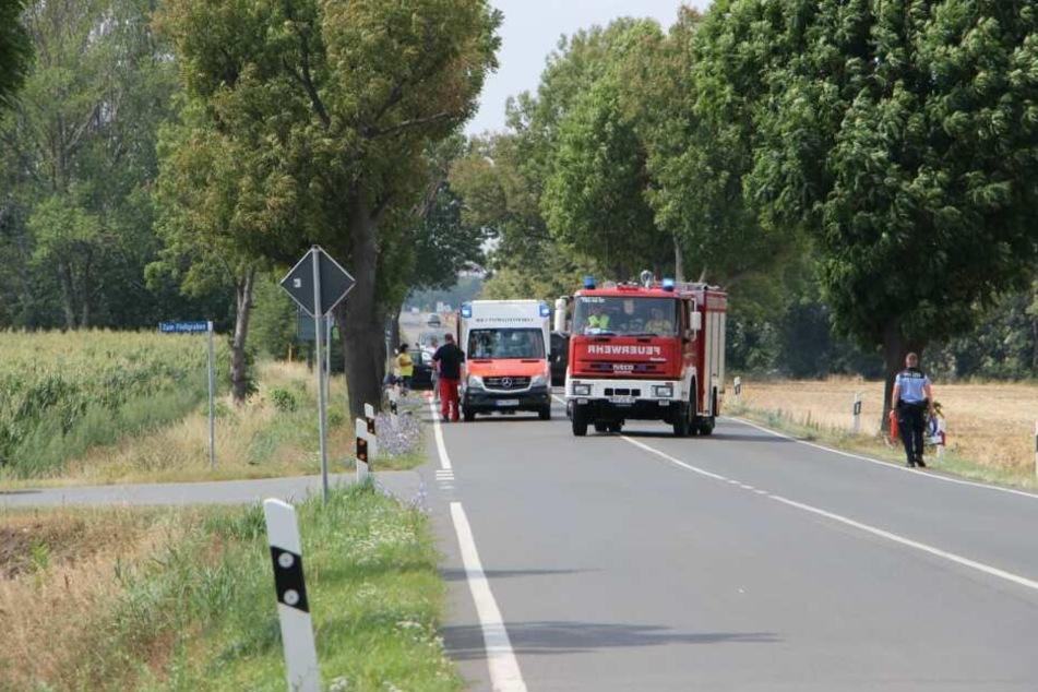 Auf der B87 bei Dölzig ist es am Sonntag zu einem schweren Unfall gekommen.
