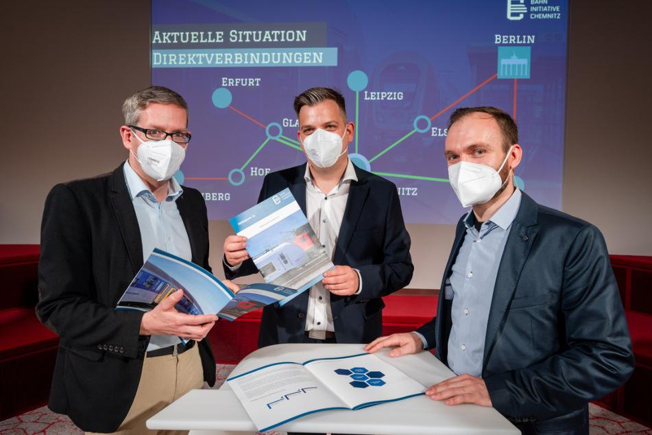 Das Konzept wurde von Politikwissenschaftler Sebastian Liebold, Sebastian Drechsler (Sprecher der Bahninitiative Chemnitz) und Markus Haubold (Sprecher Fahrgastverband PRO BAHN Mitteldeutschland) vorgestellt.