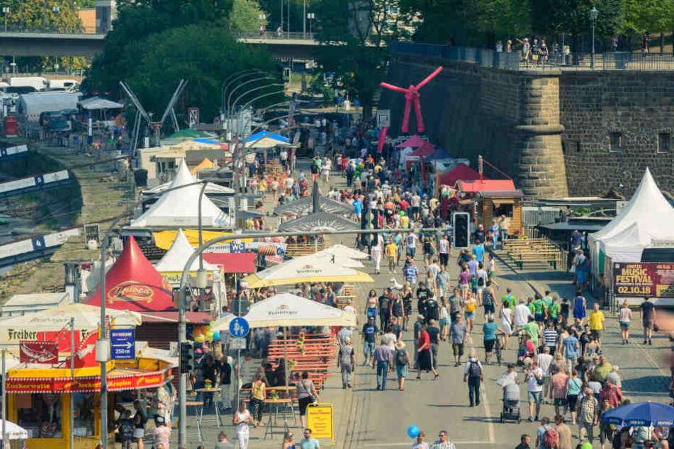 500000 Besucher bei bestem Wetter: Auch am Sonntag war die Innenstadt noch gut gefüllt.