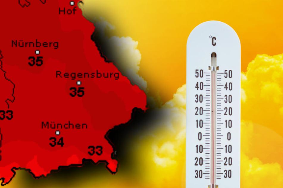 Es wird nächste Woche noch einmal richtig heiß in Bayern.